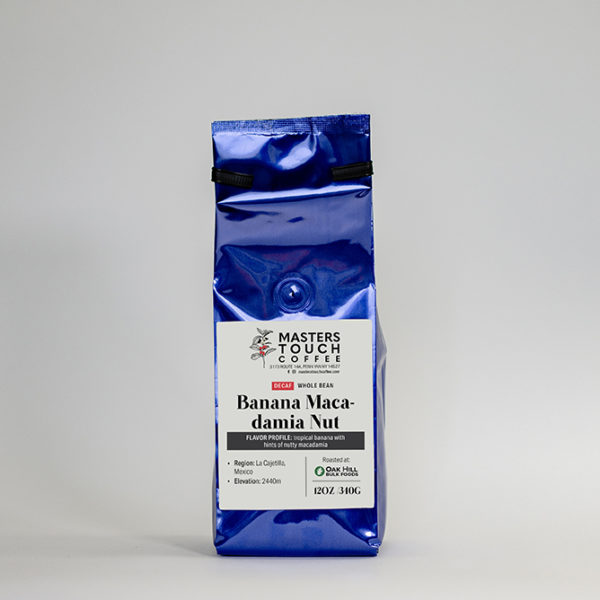 Decaf Banana Macadamia Nut Coffee Beans