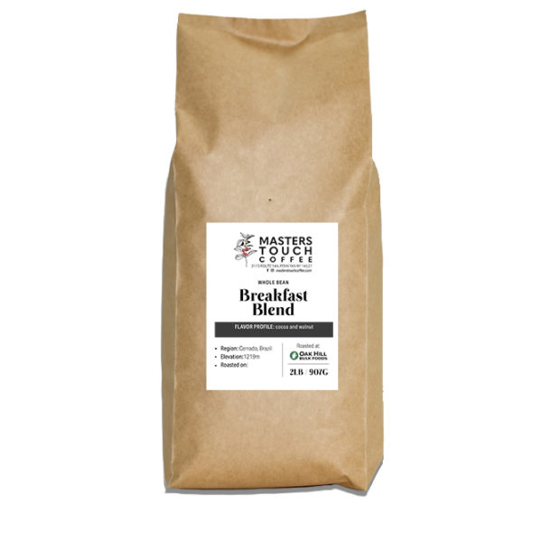 Two Pound Bag of Breakfast Blend Coffee Beans