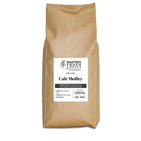 Cafe Medley Coffee Beans -2lb bag