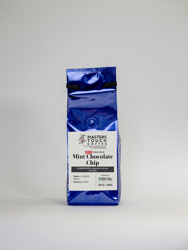 Decaf Mint Chocolate Chip Coffee Beans