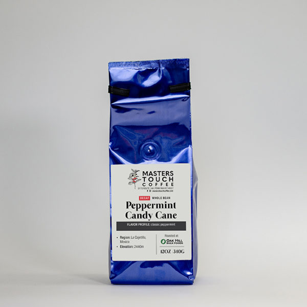 Decaf Peppermint Candy Cane Coffee Beans