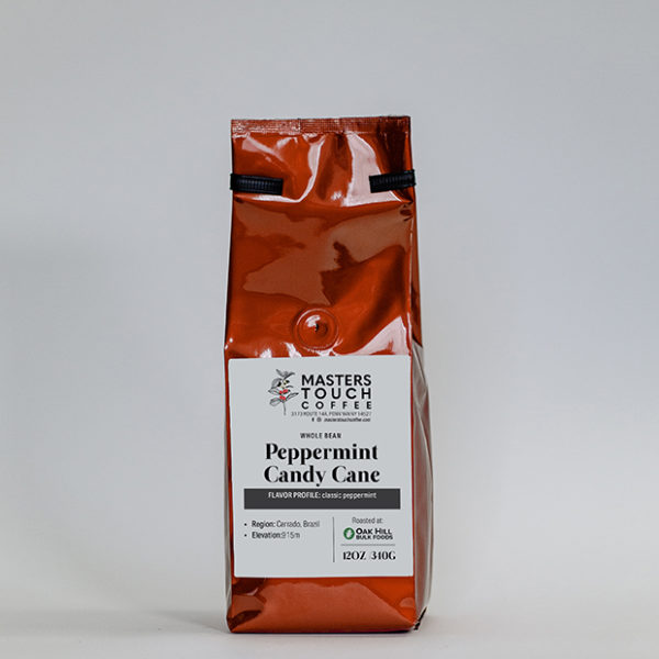 Peppermint Candy Cane Coffee Beans