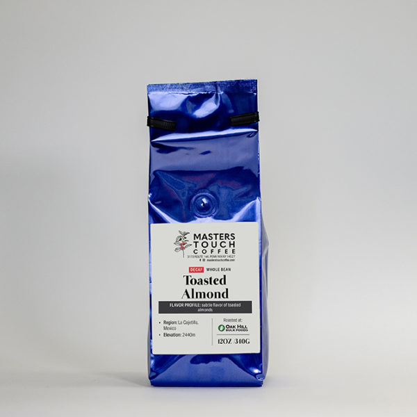 Decaf Toasted Almond Coffee Beans